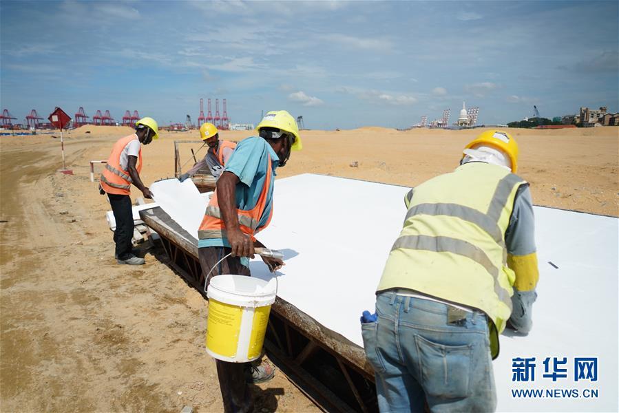 """(國際·圖文互動)(6)通訊:""""五年我們為斯裏蘭卡造出一片新土地""""——科倫坡港口城人的自豪與希冀"""