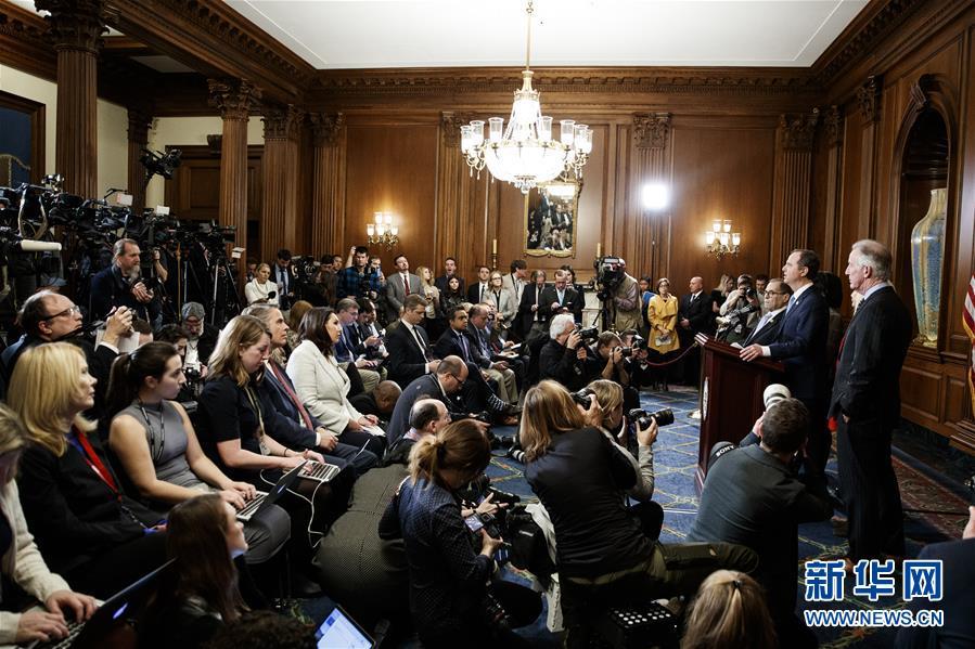 (國際)(1)美國會眾議院司法委員會宣布對特朗普的彈劾條款