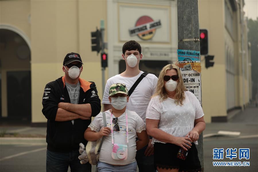 澳大利亚首都被烟霾笼罩 空气质量最差时达到'危险'等级的20倍