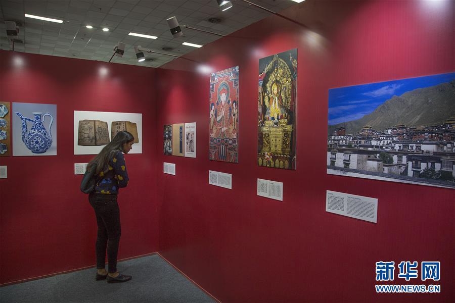 """""""阅读中国""""图书展暨""""中印文化交流图片展""""在新德里举行"""
