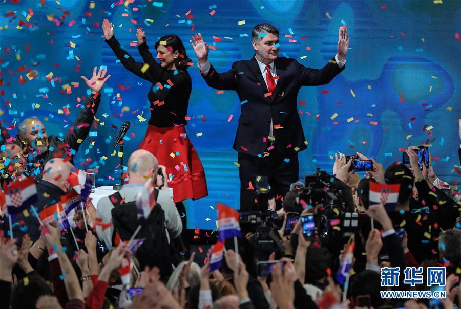 (国际)(2)克罗地亚前总理米拉诺维奇当选新总统