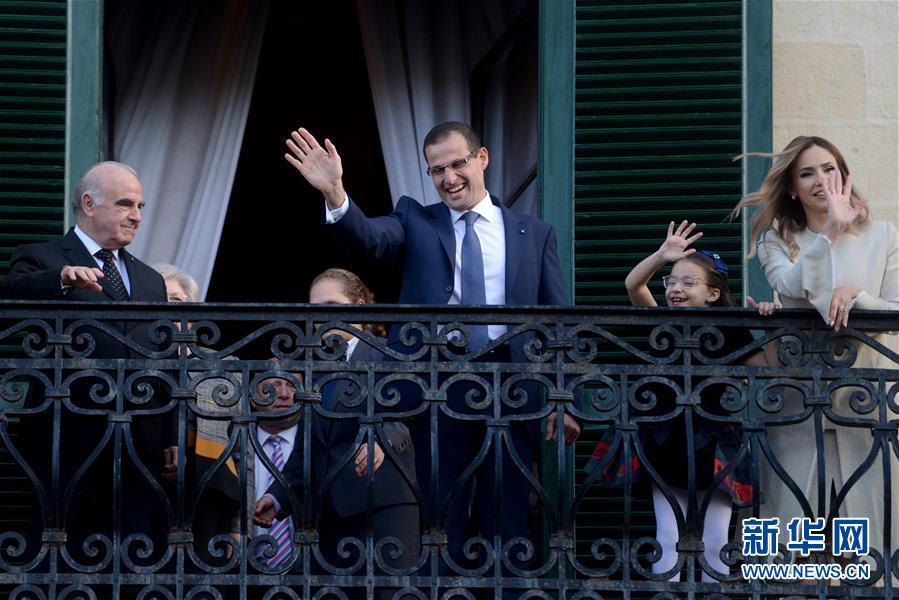 (國際)(1)羅伯特·阿貝拉宣誓就任馬耳他總理