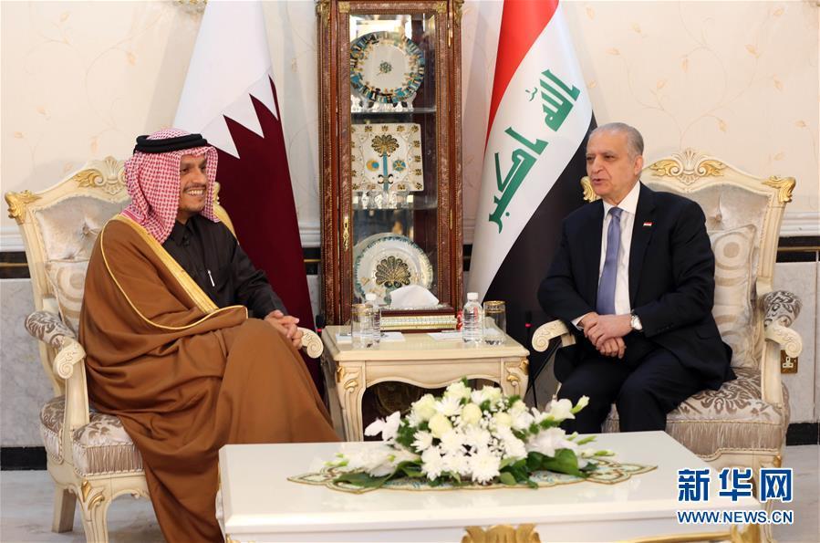 (国际)(1)伊拉克与卡塔尔外长商讨缓和地区紧张局势问题
