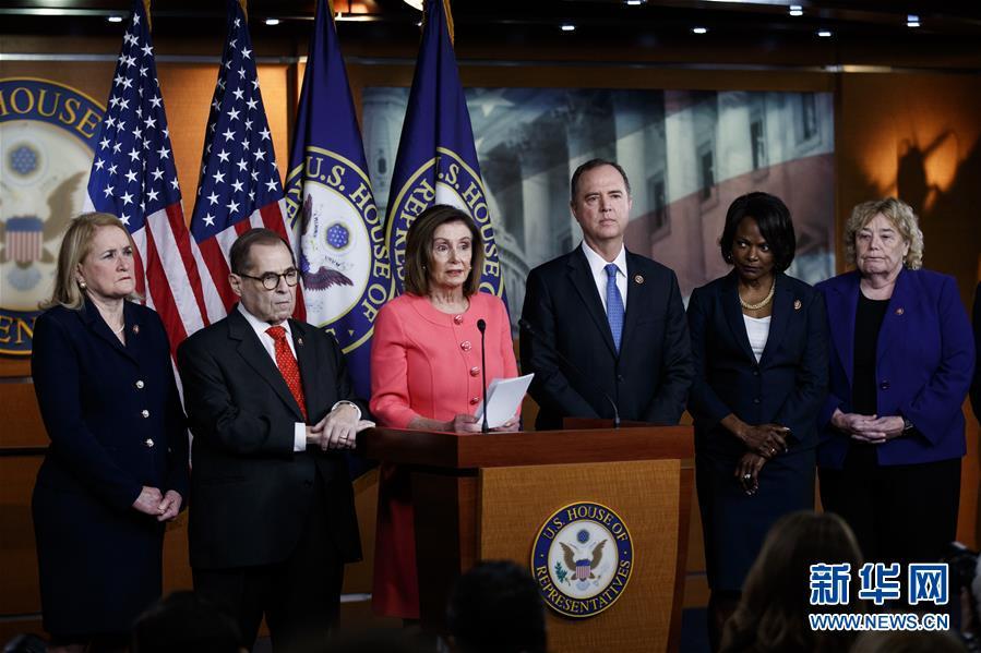 (國際)(1)美眾議院將彈劾總統條款文件呈交參議院