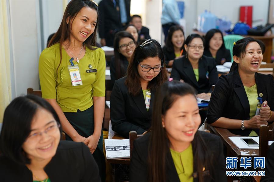 (習近平出訪配合稿·圖文互動)(4)通訊:緬甸公務員掀起學中文熱