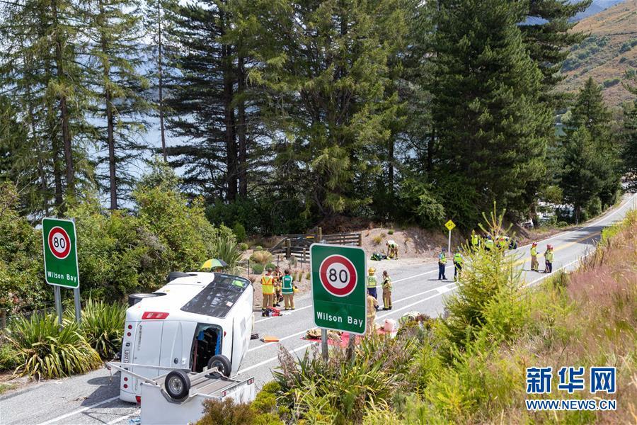 (國際)(1)新西蘭南島旅遊大巴側翻 多名中國遊客受傷