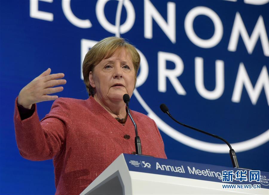 (國際)(1)德國總理默克爾出席世界經濟論壇2020年年會