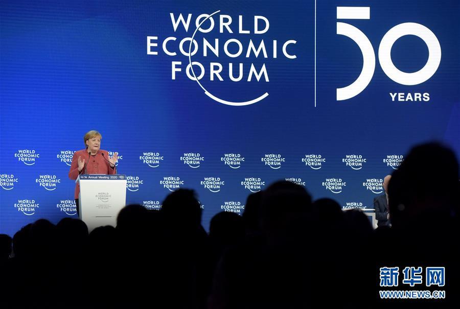 (XHDW)(1)德國總理默克爾出席世界經濟論壇2020年年會