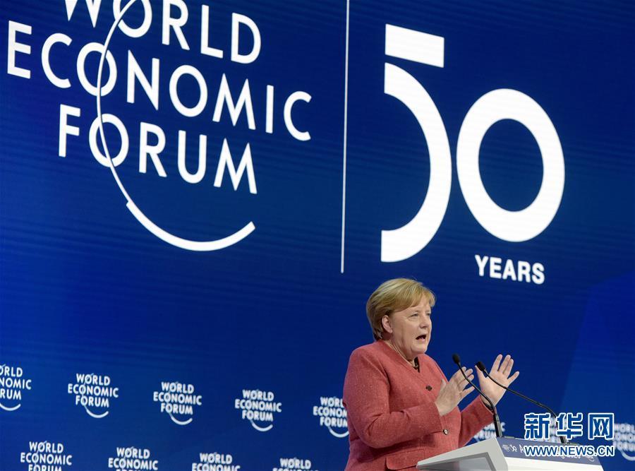 (XHDW)(2)德國總理默克爾出席世界經濟論壇2020年年會