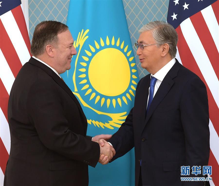 (國際)(1)蓬佩奧訪哈介紹美國中亞地區新戰略