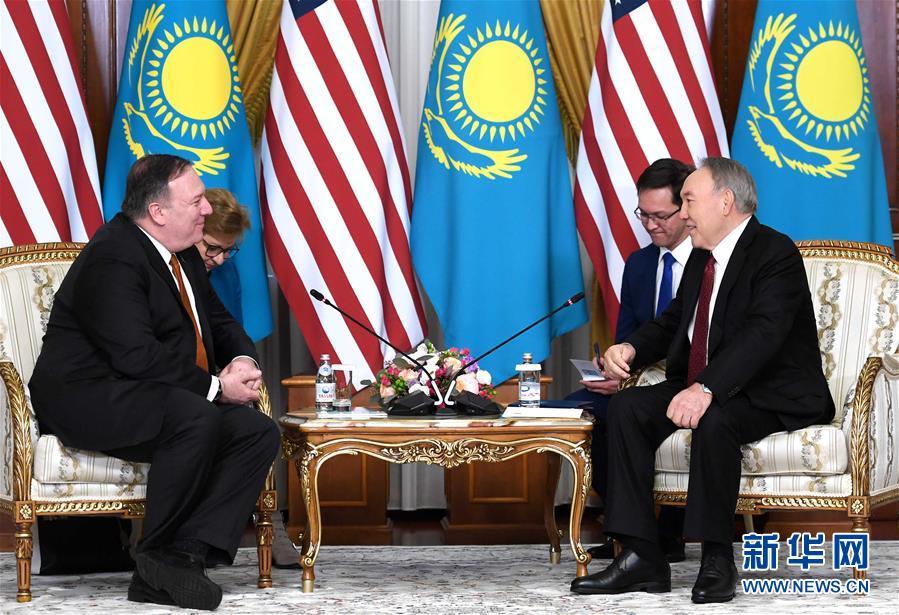 (國際)(2)蓬佩奧訪哈介紹美國中亞地區新戰略