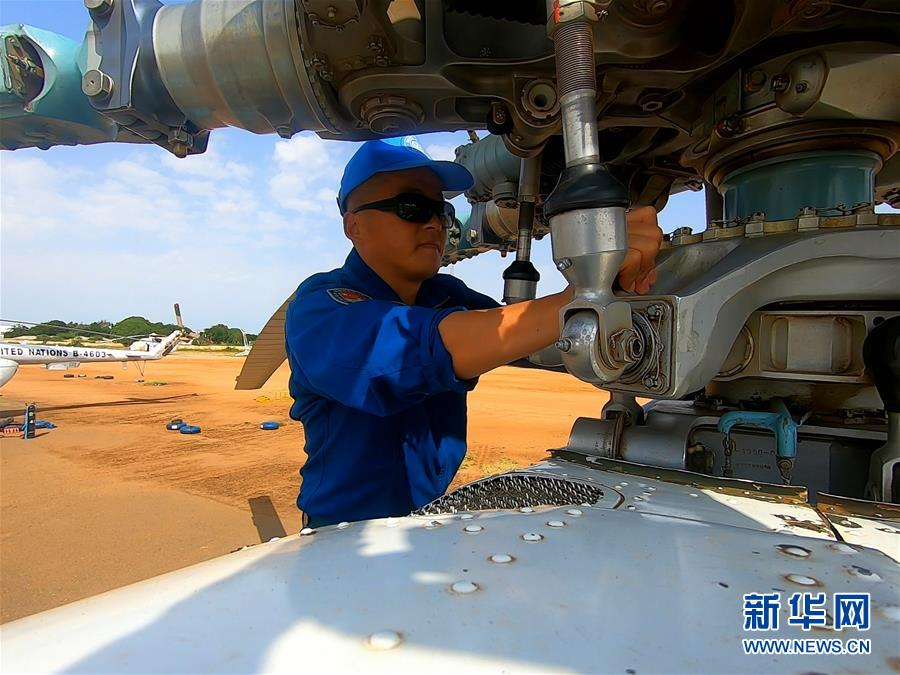 (國際)(2)中國維和直升機分隊緊急轉運岡比亞重病維和警察