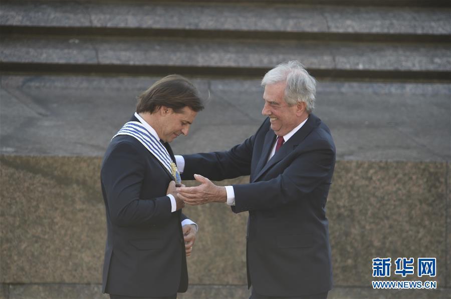 (国际)(2)乌拉圭新总统拉卡列·波乌宣誓就职