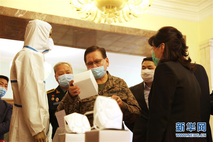 (国际疫情)(2)中国政府援助蒙古国第一批抗疫物资顺利交接