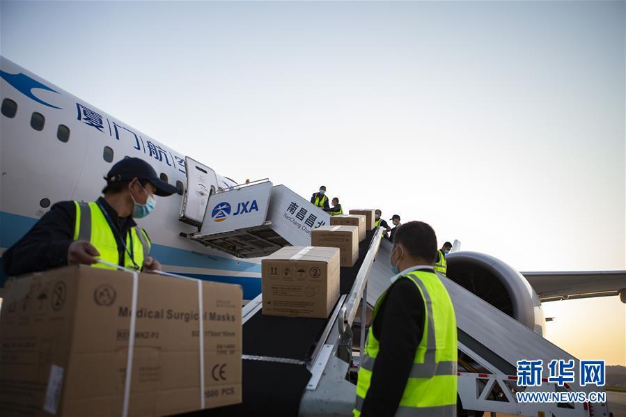 (聚焦疫情防控·圖文互動)(2)江西開通醫用防護物資國際航空貨郵包機