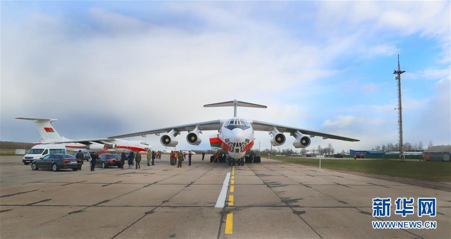(國際疫情)(2)中國援助白俄羅斯新一批抗疫物資運抵明斯克