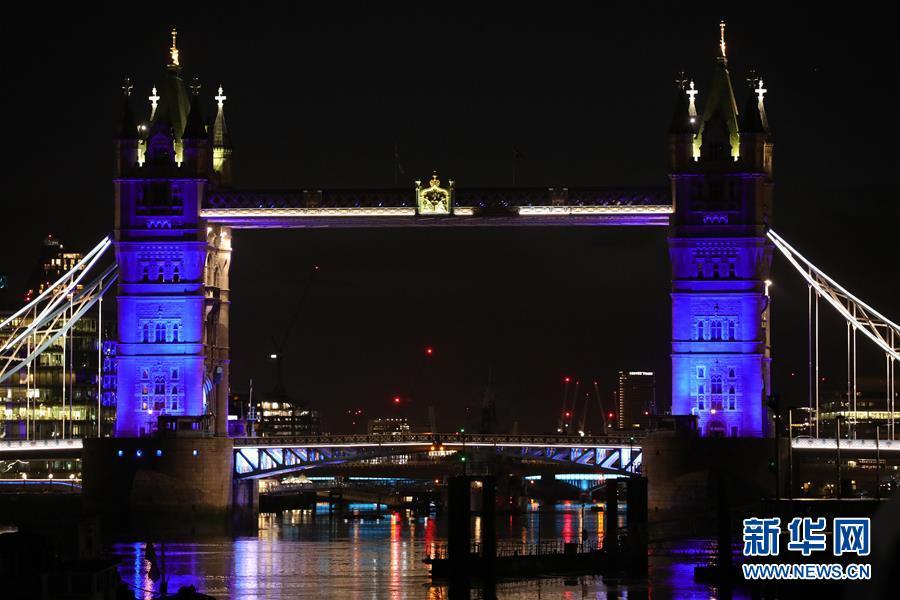 (國際疫情)(3)倫敦亮燈致敬醫護人員