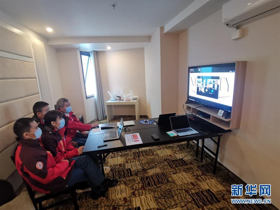 (國際)(1)中國醫療專家組與秘魯華僑華人交流新冠防疫知識