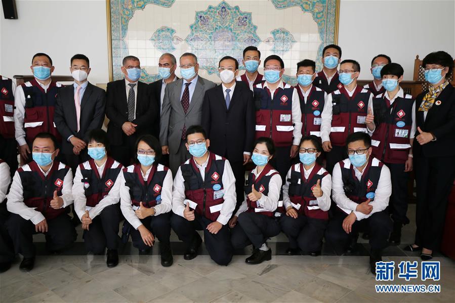 (國際)(1)中國抗疫醫療專家組離開阿爾及利亞前往蘇丹
