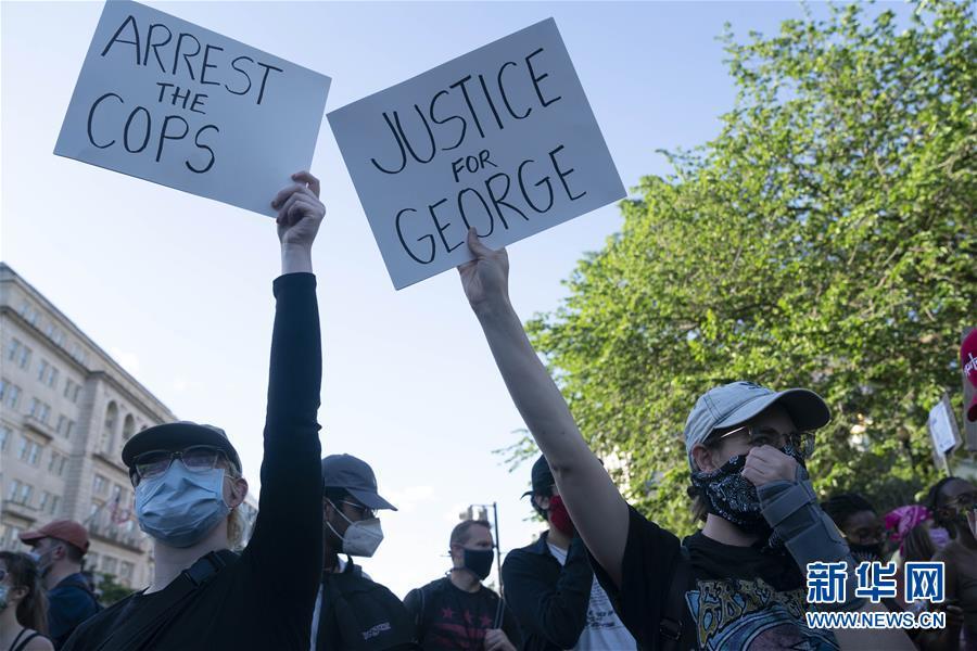 (国际)(4)华盛顿民众抗议警察暴力执法