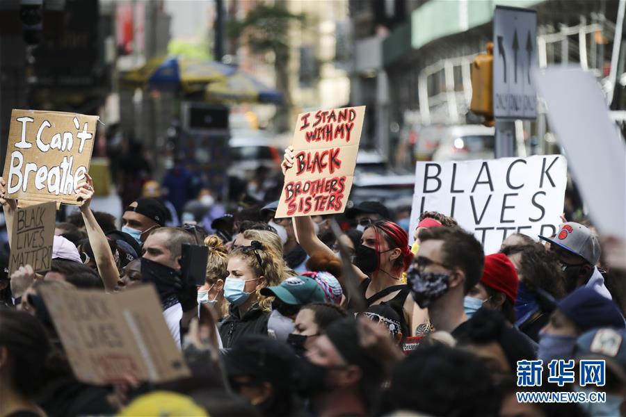 (國際)(2)紐約民眾抗議警察暴力執法進入第五天