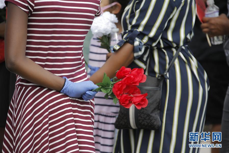 (國際)(5)美國休斯敦市舉行弗洛伊德遺體公眾瞻仰活動