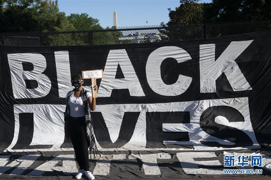 (國際)(1)美國華盛頓:抗議警察暴力執法活動持續