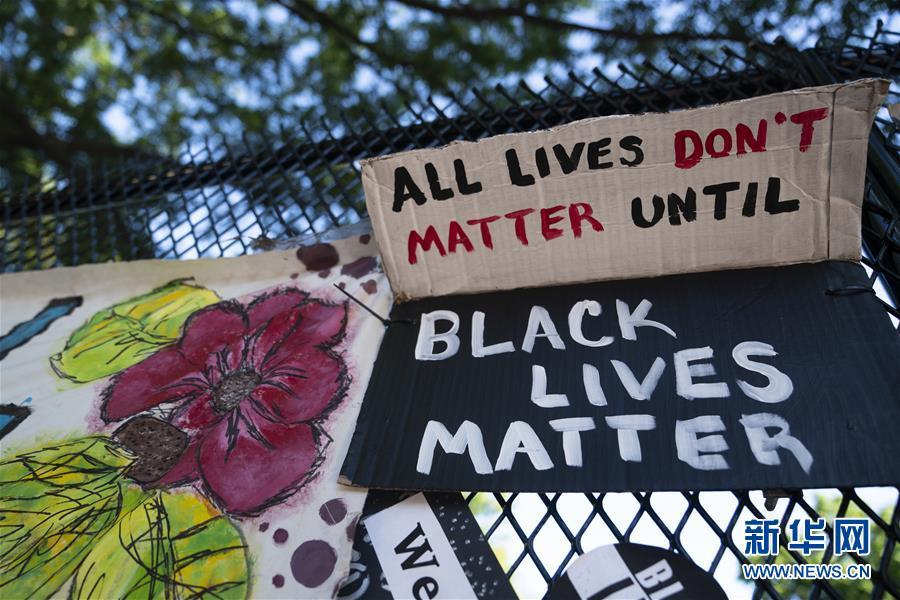 (國際)(5)美國華盛頓:抗議警察暴力執法活動持續