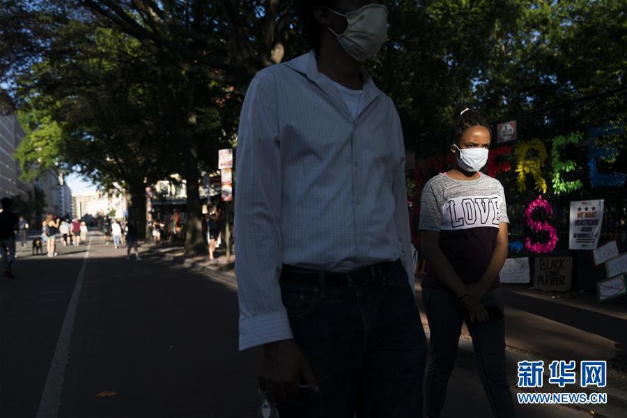 (國際)(6)美國華盛頓:抗議警察暴力執法活動持續
