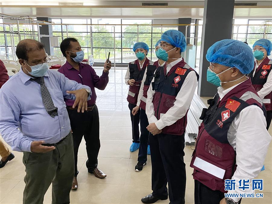 (國際疫情·圖文互動)(1)中國赴孟加拉國抗疫醫療專家組繼續與當地機構交流抗疫經驗