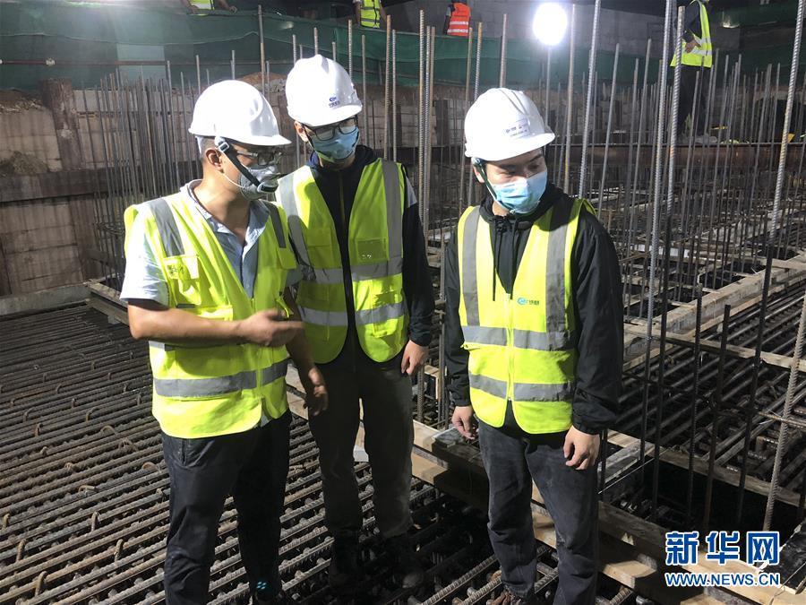 (国际·图文互动)(5)中国港湾科伦坡房建项目复工目击记