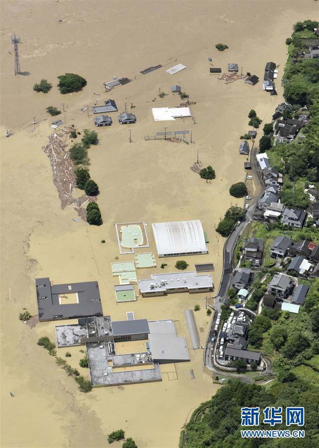 日本九州地区熊本县强降雨致死至少20人