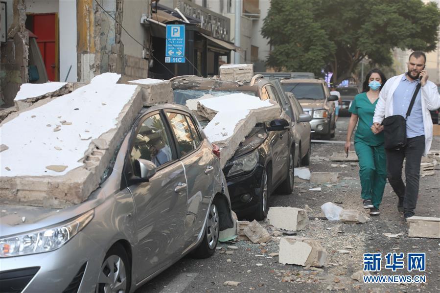 (國際)(12)黎巴嫩首都港口區發生爆炸 至少10人死亡