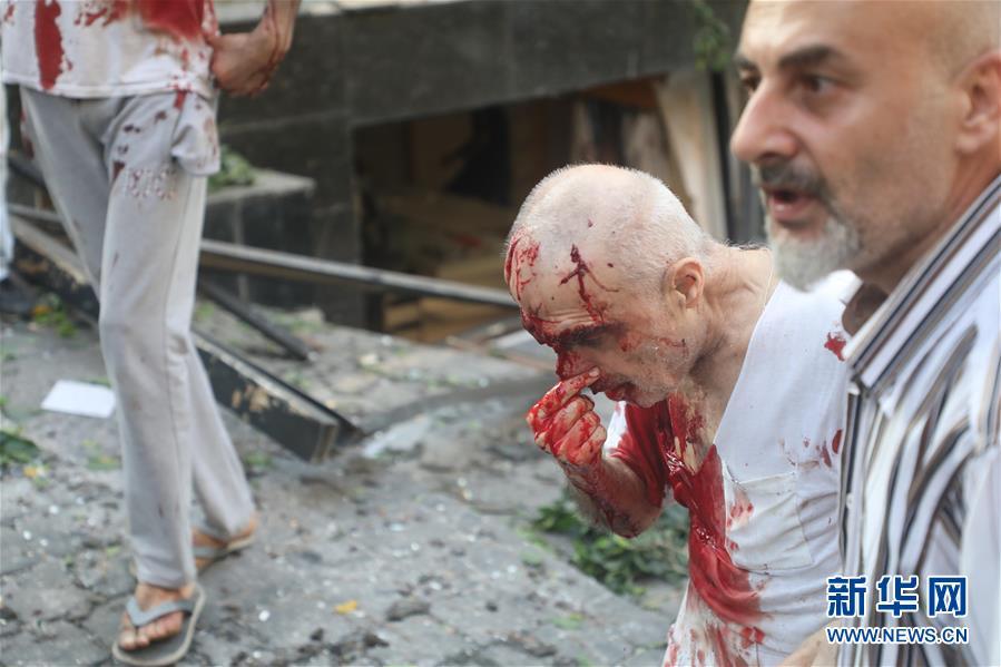 (國際)(19)黎巴嫩首都港口區發生爆炸 至少10人死亡