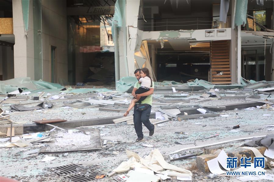(國際)(8)黎巴嫩首都港口區發生爆炸 至少10人死亡