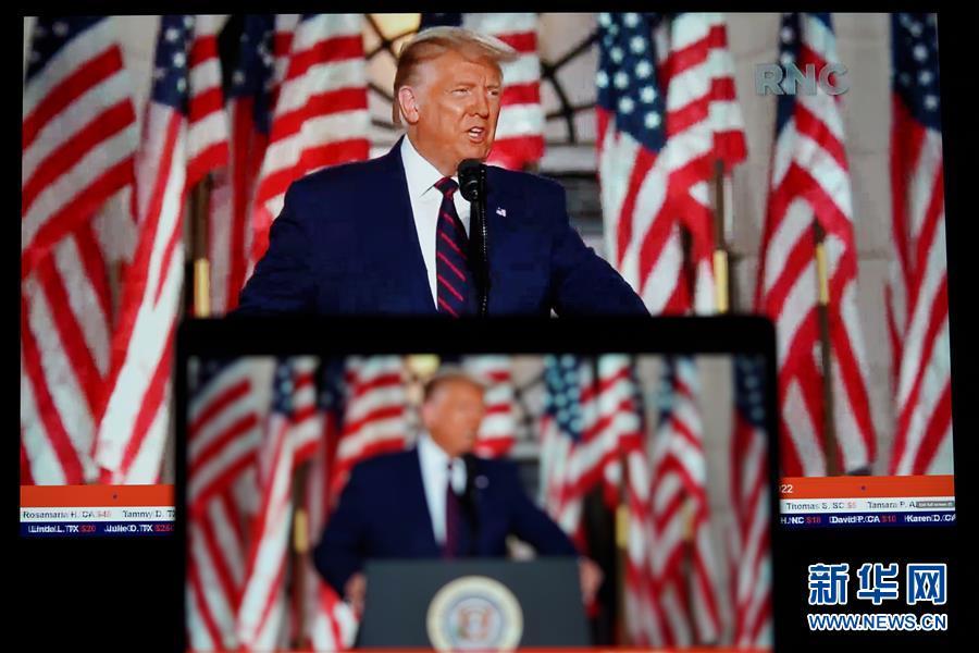 """(国际)特朗普发表接受提名演讲称面临史上""""最重要""""美国大选"""
