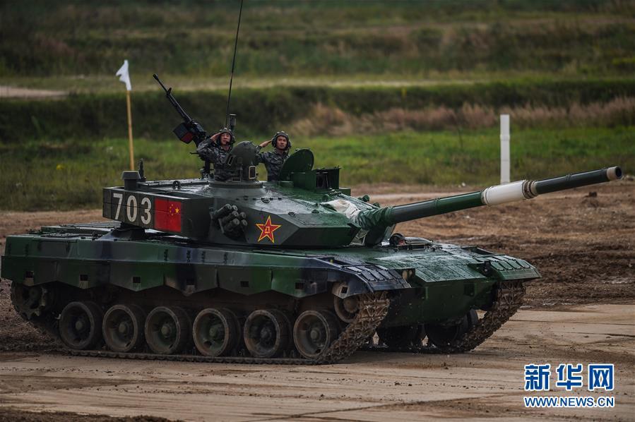"""(国际·图文互动)(2)""""国际军事比赛-2020""""""""坦克两项""""项目单车赛收官 中国队晋级半决赛"""