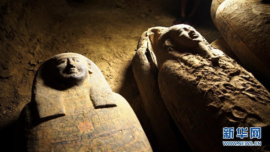 (國際)(1)埃及出土多具2500年前的木棺
