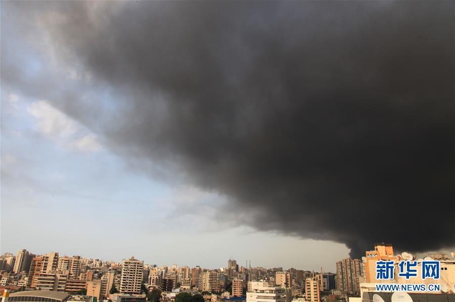 (國際)(1)黎巴嫩貝魯特港口區發生火災
