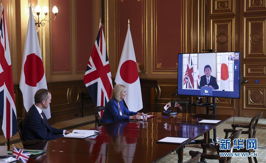 """(国际)(2)英国达成""""脱欧""""后首份重大贸易协议"""