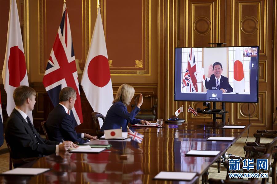 """(国际)(3)英国达成""""脱欧""""后首份重大贸易协议"""