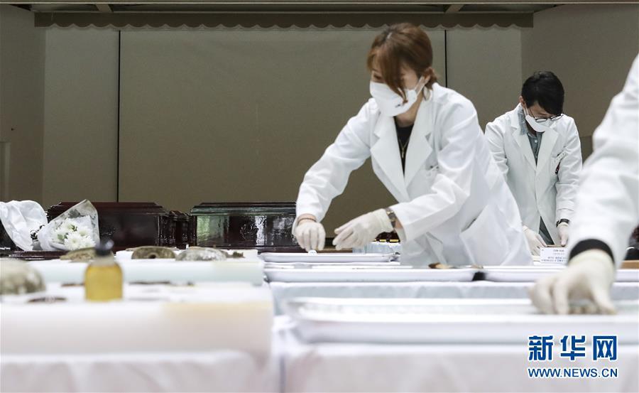 (国际)(2)第七批在韩中国人民志愿军烈士遗骸装殓仪式举行