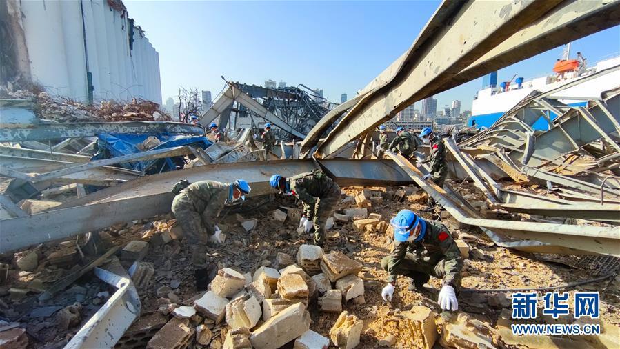 (國際)(1)中國維和官兵全面展開貝魯特災後重建援助工作