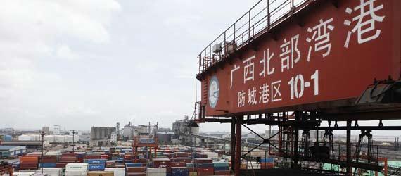 中國西部第一大港漸成面向東盟國際航運樞紐