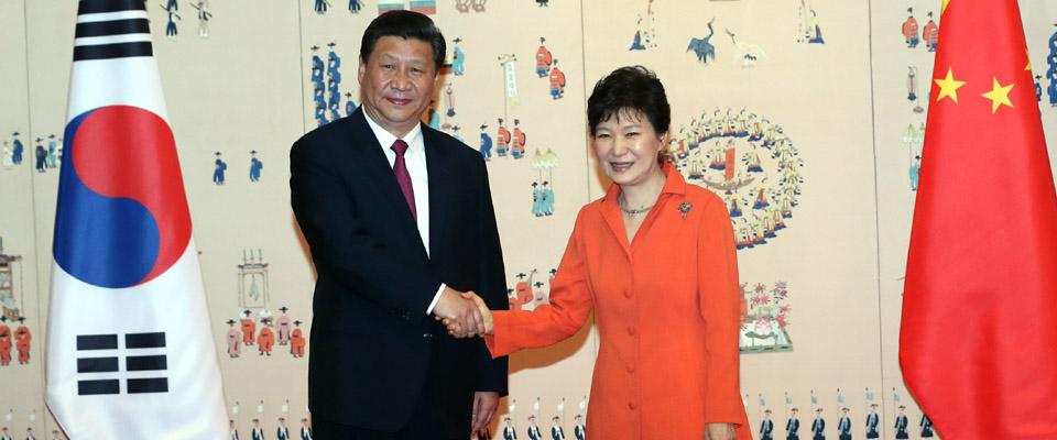 习近平同韩国总统朴槿惠举行会谈