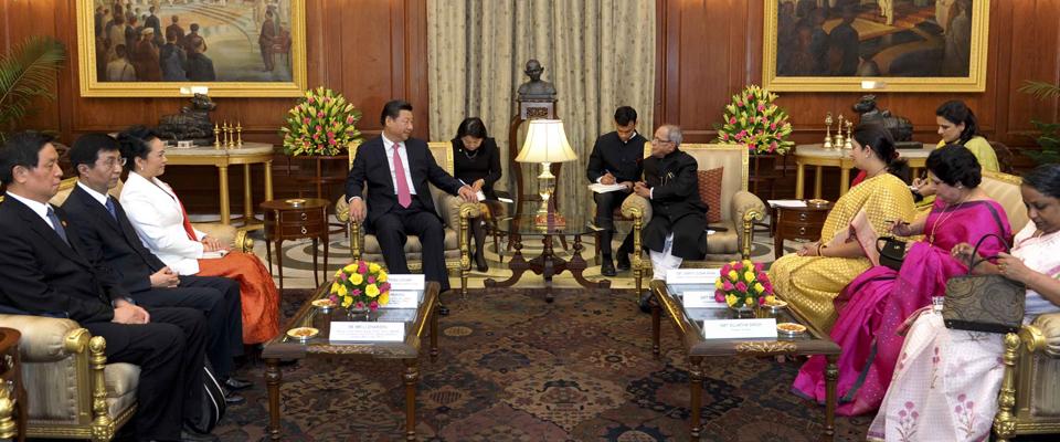 習近平會見印度總統慕克吉