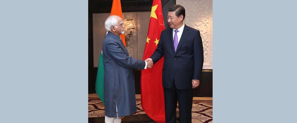 習近平會見印度副總統兼聯邦院議長安薩裏