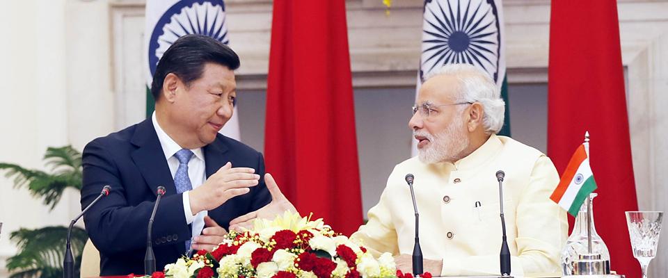 習近平同印度總理莫迪舉行會談