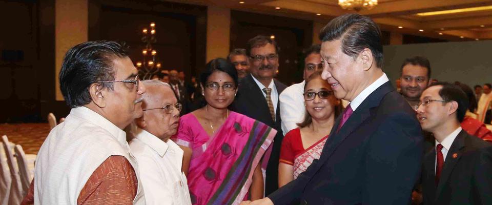 習近平會見印度友好人士、友好團體代表並頒發和平共處五項原則友誼獎