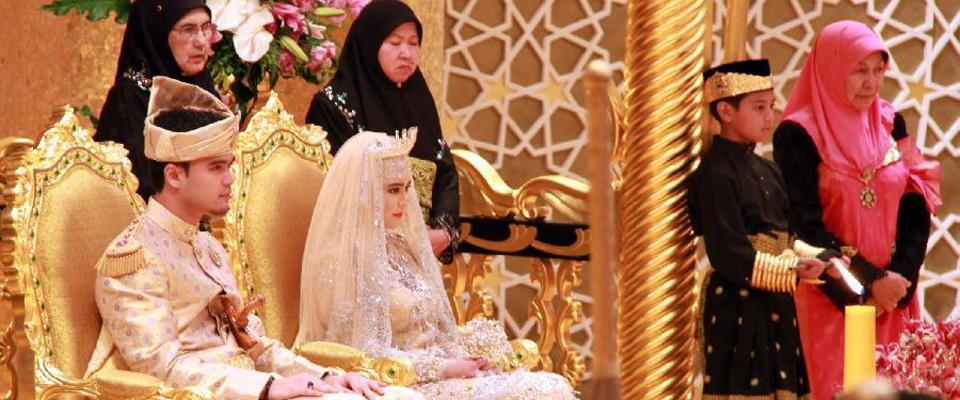 文萊皇室為公主舉辦盛大婚禮